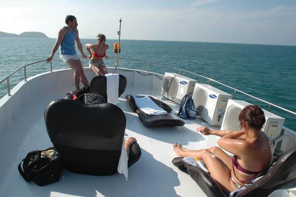 Luxus auf den Booten