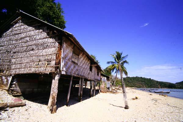 Auf Stelzen am Strand - der Tsunamiwelle getrotzt