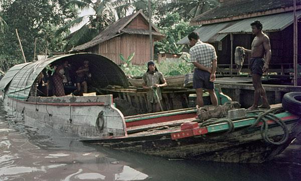 1975. Bangkok. Leben und arbeiten auf dem Boot.