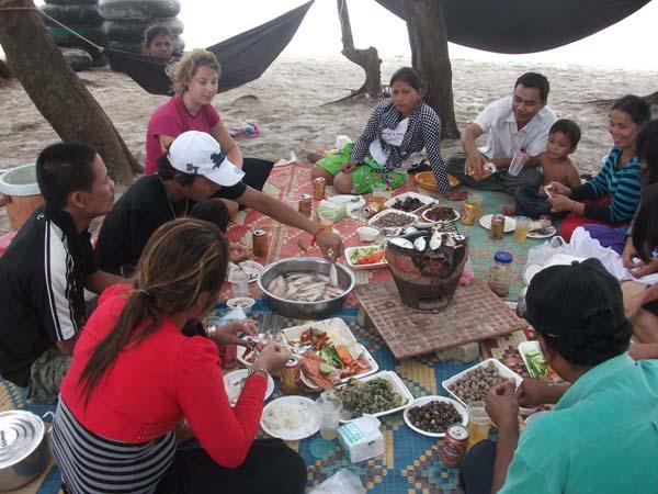 Essen am Strand - Seafood total