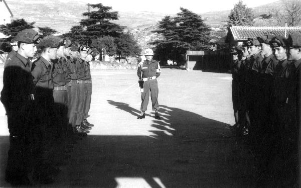 1958. Korea. US-Amerikanischer Stützpunkt. Militär. Soldaten