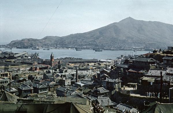 1958. Korea. Busan. Man vergleiche das Bild mit einer aktuellen Aufnahme!