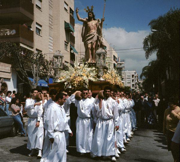 Prozession mit Jesusfigur