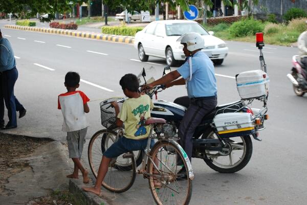 Kambodscha - Polizeikontrolle
