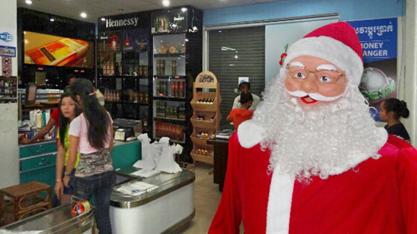 Weihnachtsmann in Sihanoukville