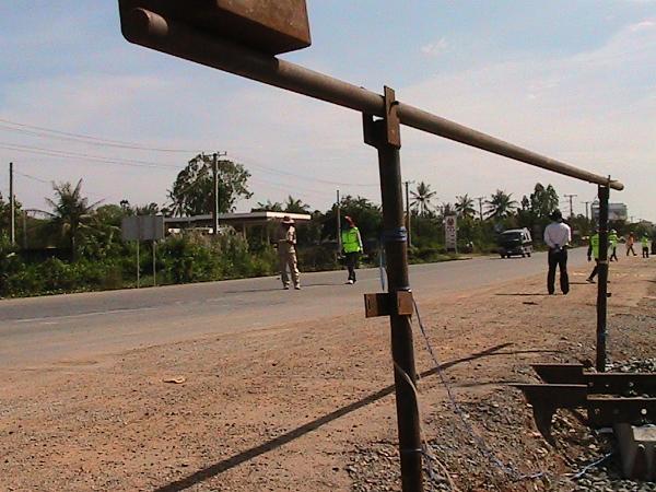 Defekte Gleisanlagen