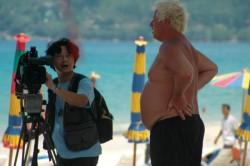 Deutscher Rentner im Strandparadies